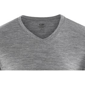 Icebreaker M's Tech Lite SS V Shirt gritstone hthr